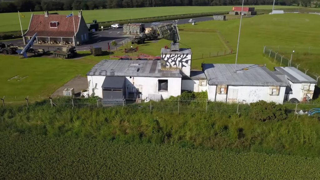 Aerial view of Scotland's Secret Bunker by Granite Creative Productions