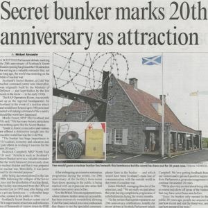 News Clipping - Secret Bunker 20th Anniversary As Attraction